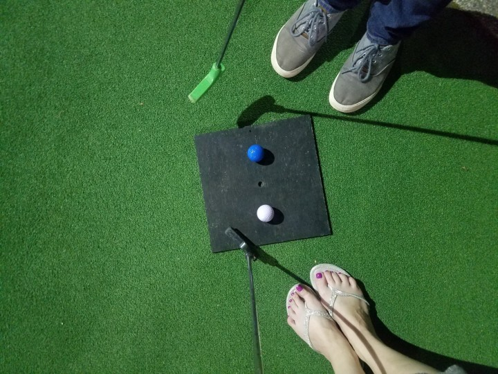 Makeup and Mini-Golf…